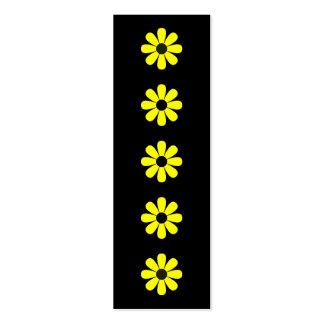 Mini marcador das margaridas amarelas cartão de visita skinny