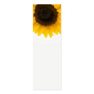 Mini marcador do girassol cartões de visita