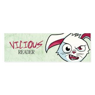 """""""Mini marcador do leitor vicioso"""" Cartão De Visita"""