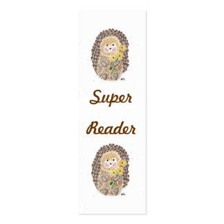 Mini marcador do ouriço alegre cartoes de visitas