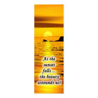 Mini marcador do por do sol cartão de visita skinny