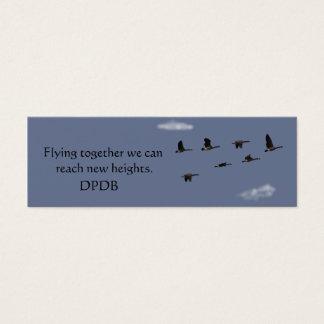 Mini marcador inspirador cartão de visitas mini