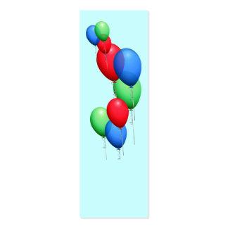 Mini marcador Repurposed dos balões Modelo Cartoes De Visitas