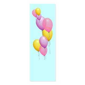 Mini marcador Repurposed dos balões Modelo Cartoes De Visita