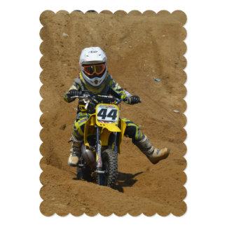 Mini motocross convite personalizado