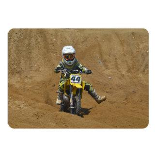 Mini motocross convite 12.7 x 17.78cm