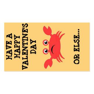 Mini namorados Crabby Cartão De Visita