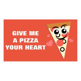 Mini namorados da pizza cartões de visita