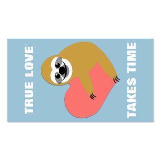 Mini namorados da preguiça lisa cartão de visita