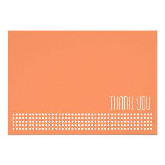 Mini obrigado que das bolinhas você nota a laranj convite