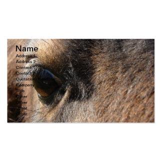 Mini olho da égua cartão de visita