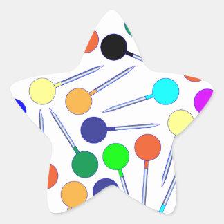 Mini pinos da cabeça do botão adesivo estrela