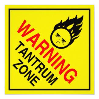 Mini posters dos sinais de aviso parentais convite quadrado 13.35 x 13.35cm