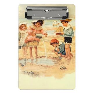 Mini Prancheta Areia do Victorian do vintage das crianças da