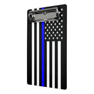 Mini Prancheta Blue Line fino gráfico indica a bandeira dos E.U.