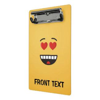 Mini Prancheta Cara de sorriso com olhos Coração-Dados forma