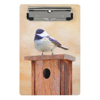 Mini Prancheta Chickadee no Birdhouse