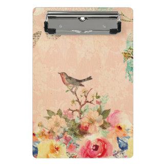 Mini Prancheta Chique, pássaro, borboleta, laço, floral, país ch