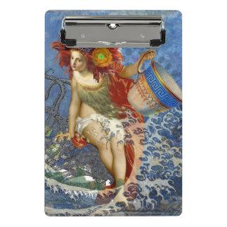 Mini Prancheta Colagem retro gótico da sereia lunática do Aquário