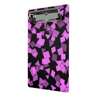 Mini Prancheta Confetes cor-de-rosa brilhantes no preto