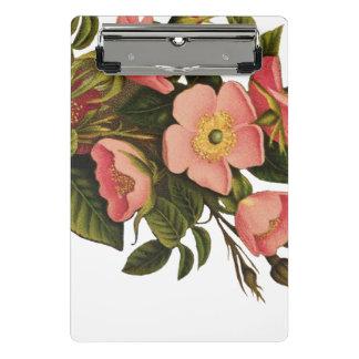 Mini Prancheta Corajoso bonito da arte cor-de-rosa bonita da flor