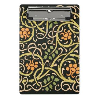 Mini Prancheta Design floral preto do impressão da arte de