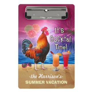 Mini Prancheta Galo engraçado tropical das férias | da praia ou