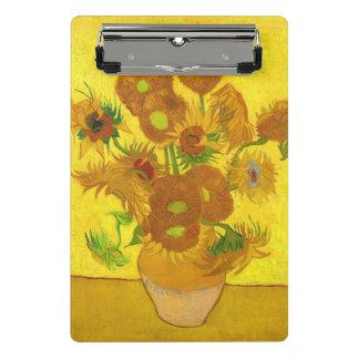 Mini Prancheta Girassóis de Van Gogh quinze em umas belas artes