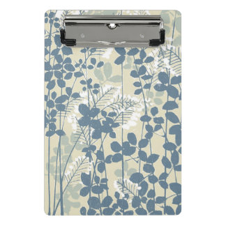 Mini Prancheta Impressão azul floral das flores da arte asiática