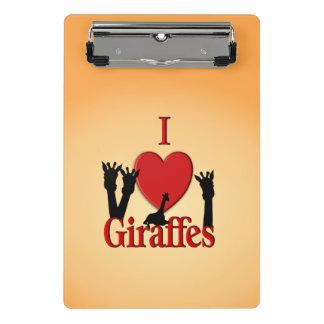 Mini Prancheta Mim girafas do coração