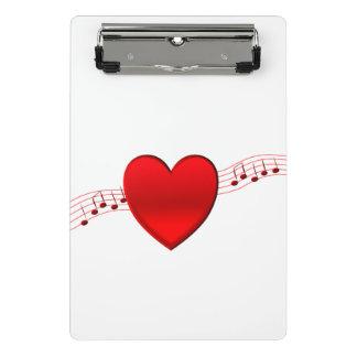 Mini Prancheta Música do coração