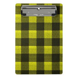 Mini Prancheta Olhar Checkered de serapilheira do teste padrão do