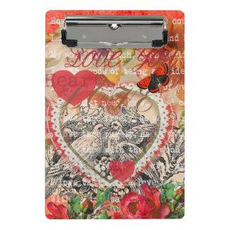 Mini Prancheta Pássaros do amor dos namorados do vintage
