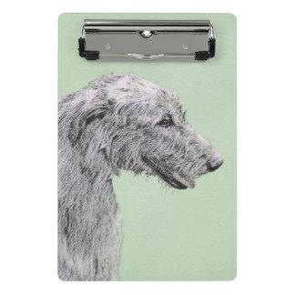 Mini Prancheta Pintura do Wolfhound irlandês 2 - arte original