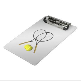 Mini Prancheta Prata do tema do esporte do tênis dos dobros