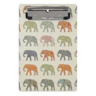 Mini Prancheta Teste padrão bonito do elefante colorido