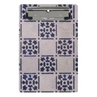Mini Prancheta Teste padrão branco azul do impressão da arte do