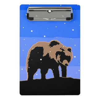 Mini Prancheta Urso de urso no inverno