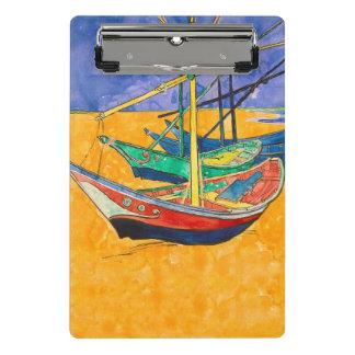 Mini Prancheta Van Gogh que pinta barcos famosos