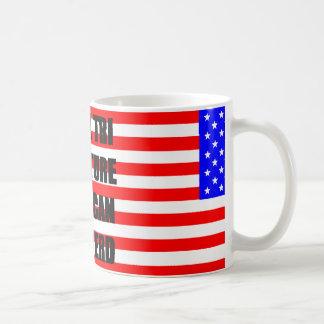 mini preto conhecido australiano da bandeira tri caneca de café