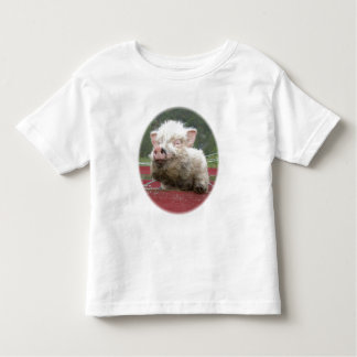 Mini t-shirt canadense da criança do bebê do porco