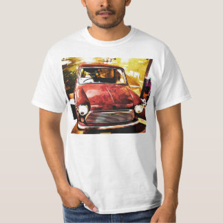 Mini t-shirt retro do carro camiseta