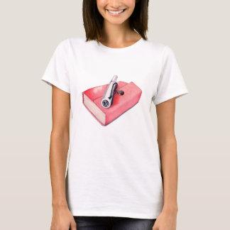 Mini t-shirt vermelho do bloco de desenho