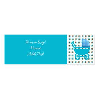 Minicard do anúncio do nascimento do bebê cartão de visita skinny