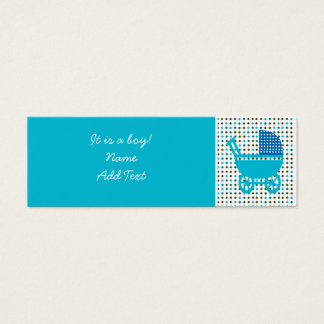 Minicard do anúncio do nascimento do bebê cartão de visitas mini
