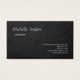 Minimalista liso preto grosso superior luxuoso cartão de visitas