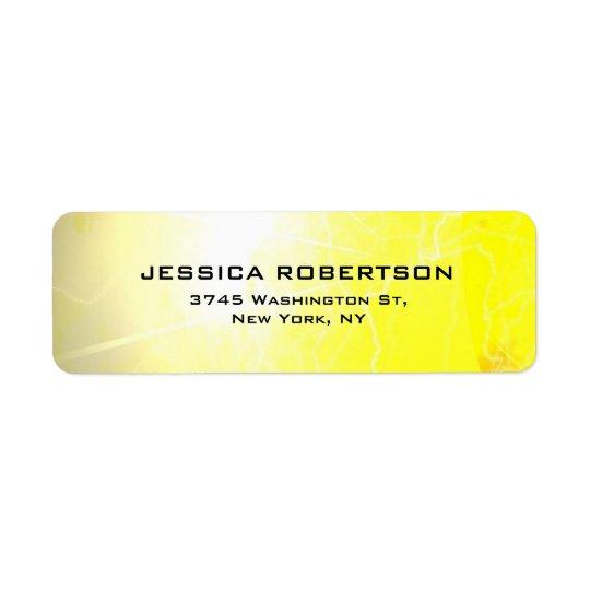 Minimalista moderno elegante liso legível amarelo etiqueta endereço de retorno