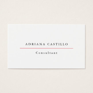 Minimalista profissional branco simples liso na cartão de visitas