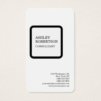 Minimalista profissional moderno luxuoso de seda cartão de visitas