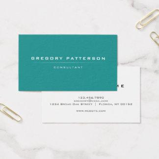 Minimalistic verde liso profissional moderno cartão de visitas